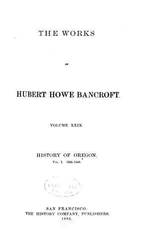 History of Oregon  1834 1848
