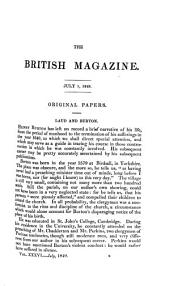 British Magazine and Monthly Register of Religious and Ecclesiastical Information, Parochial History, and Documents Respecting the State of the Poor, Progress of Education, Etc: Volume 36