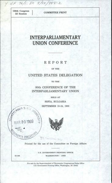 Interparliamentary Union Conference