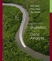 Introduction to Statistics and Data Analysis: Edition 3