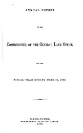 Annual Report of the Commissioner of the General Land Office