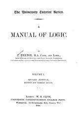 A Manual of Logic: Volume 1