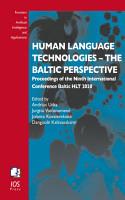 Human Language Technologies     The Baltic Perspective PDF