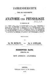 Jahresbericht über die Fortschritte der Anatomie und Physiologie: Band 7,Teil 1