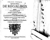 Disputatio ultima de regalibus