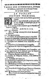 La Cour Sainte, ou Institution chrestienne des Grands... Par le R. P. Nicolas Caussin... Tome premier [-Tome II]