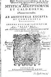 Mystica Aegyptiorum et Chaldaeorum