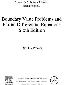 Student Solutions Manual  Boundary Value Problems PDF