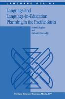 Language and Language in Education Planning in the Pacific Basin PDF