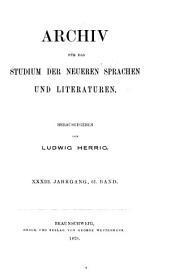 Archiv für das Studium der neueren Sprachen und Literaturen: Bände 61-62