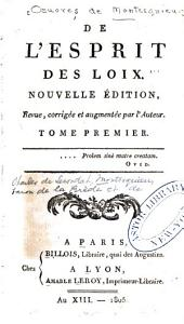 Oeuvres de Montesquieu: Volume1