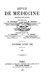 Revue de médecine: Volume12