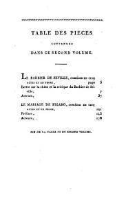 Oeuvres choisies de Beaumarchais: La barbier de Séville; Le mariage de Figaro