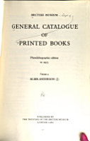 General Catalogue of Printed Books PDF