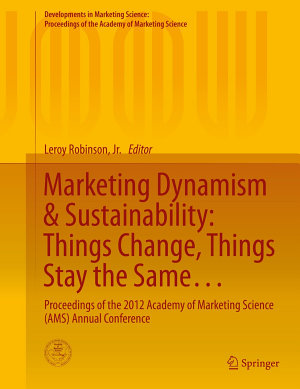 Marketing Dynamism   Sustainability  Things Change  Things Stay the Same