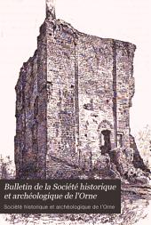 Bulletin de la Société historique et archéologique de l'Orne: Volume3