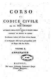 Corso di Codice civile: 10: Appendice