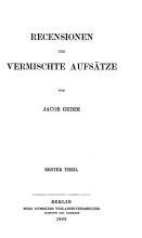Kleinere Schriften   7  Recensionen und vermischte Aufst  tze  T  1 4 PDF