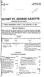 Fort Saint George Gazette