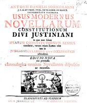 Usus modernus Novellarum Constitutionum Divi Justiniani ...