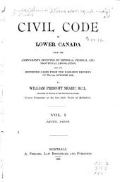 Civil Code of Lower Canada: Volume 1