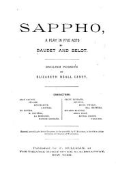 Sappho: A Play in Five Acts