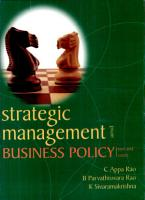 Strategic Management and Business Policy PDF
