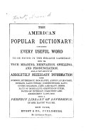 The American Popular Dictionary PDF