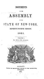 Documents of the Assembly of the State of New York: Volume 74, Issue 5