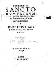 Sententiae sanctorum Patrum de coena Domini