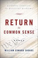 Return to Common Sense PDF