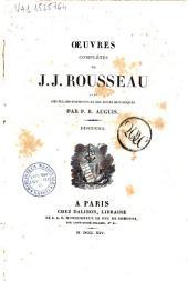 Oeuvres complètes de J.J. Rousseau avec des éclaircissements et des notes historiques par P.R. Auguis: Discours, Volume1
