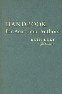 Handbook for Academic Authors Book