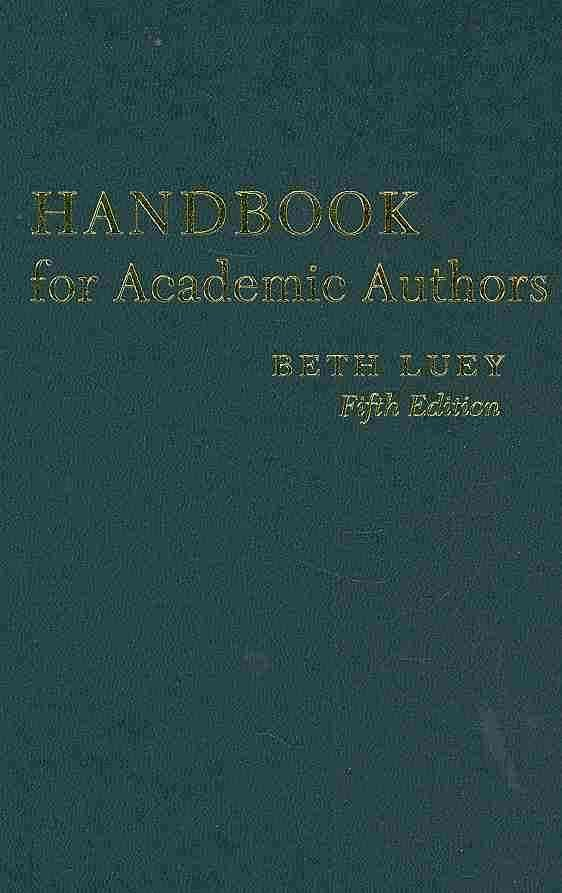 Handbook for Academic Authors