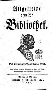Allgemeine deutsche Bibliothek: Band 17