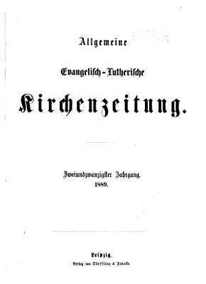 Allgemeine evangelisch lutherische Kirchenzeitung PDF