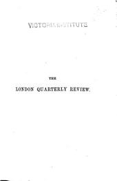The London Quarterly Review: Volume 72