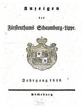 Anzeigen des Fürstenthums Schaumburg-Lippe: 1840