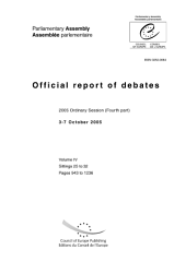 Parliamentary Assembly-official Report of Debates-2005 Ordinary Session (Fourth Part)3-7 October 2005