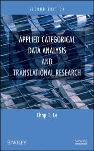 Applied Categorical Data Analysis and Translational Research PDF