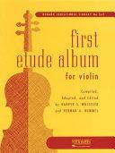 First Etude Album for Violin PDF