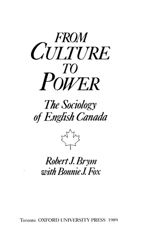 From Culture to Power