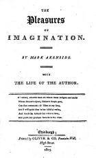 The Pleasures of Imagination     With the Life of the Author PDF