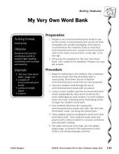 Environmental Print & Building Vocabulary: My Very Own Word Bank