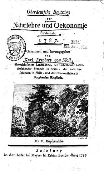 Oberdeutsche Beytr  ge zur Naturlehre und Oekonomie PDF