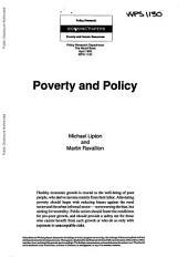 Poverty and Policy: Issue 1130
