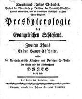 Presbyterologie des Evangelischen Schlesiens: Band 2