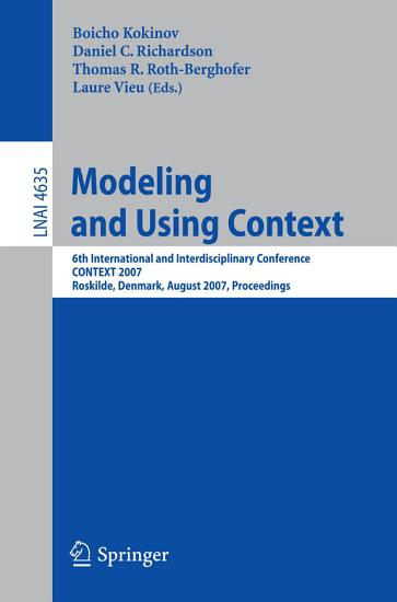 Modeling and Using Context PDF