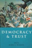 Democracy and Trust PDF