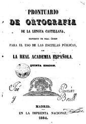 Prontuario de ortografía de la lengua castellana